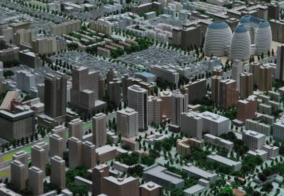 Das Highlight des Planungsmuseums: Ein gewaltiges 3D-Modell von Peking.
