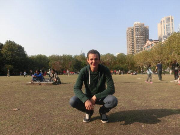 Sebastian im Shanghaier Fuxin-Park