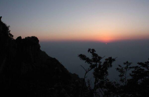 """Und so sah er dann aus, der """"schönste Sonnenaufgang der Welt""""."""