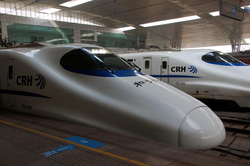 Hochgeschwindigkeitszüge in Jinan: Bis zu 350 Kilometer legen die modernen chinesischen Züge pro Stunde zurück. Foto: Kanegen / Flickr