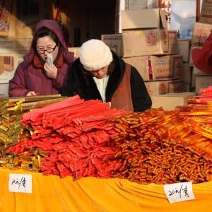 Feuerwerk und Räucherstäbchen: So sieht ein gutes chinesisches Frühlingsfest aus. Foto: OZ