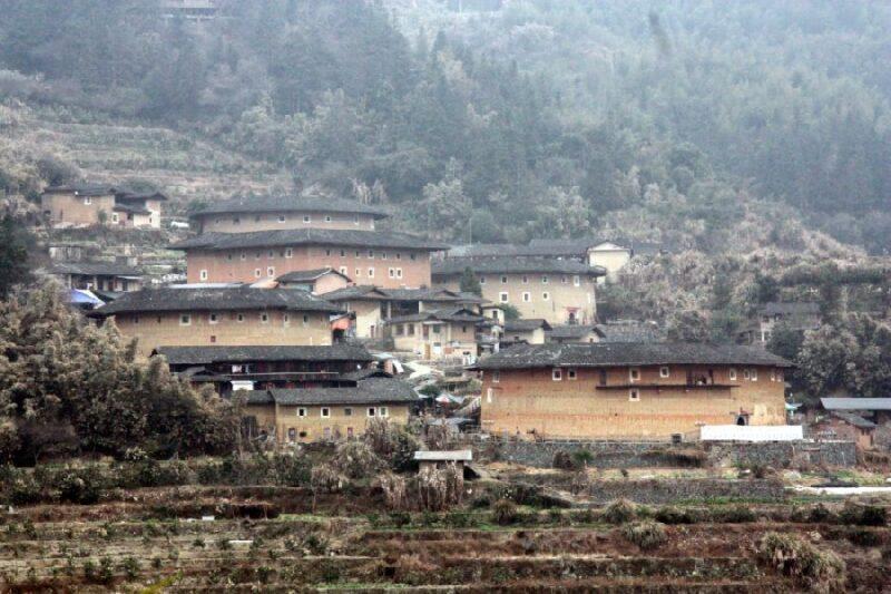 Fujian-Tulou: Die typischen Rundhäuser aus Lehm in der Provinz Fujian. Fotos: O. Zwahlen