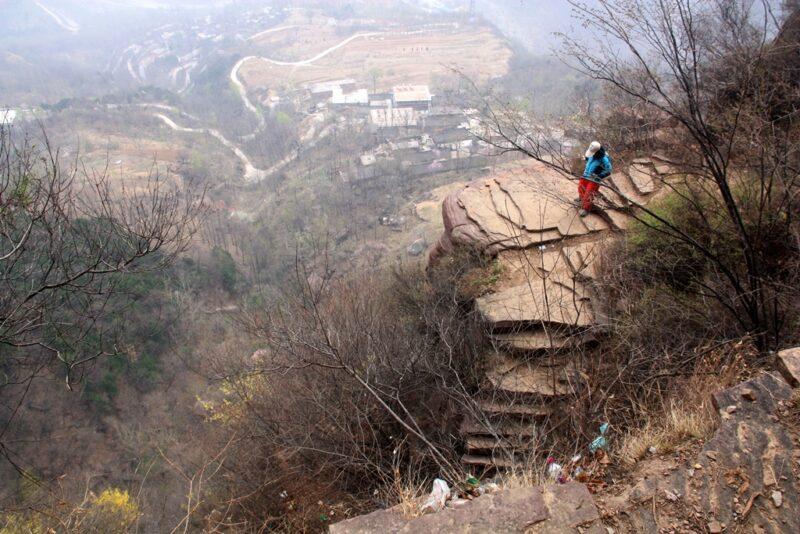 Gefährlicher Fussweg: Die Himmelstreppe bei Guoliang.