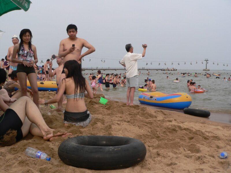 Kein Geheimtipp: Der Strand von Beidahe kann ziemlich voll werden. Foto. OZ