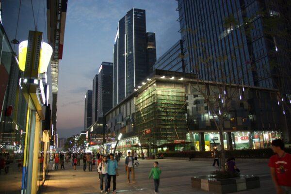 Modernes Stadtviertel in Shenzhen. Fotos: O. Zwahlen