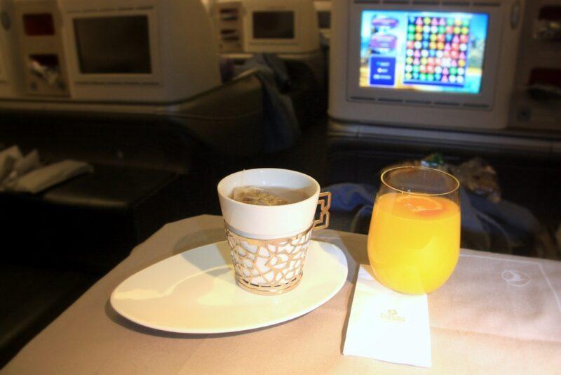 Viel Beinfreiheit: In der Business Class von Turkish Airlines. Foto: O. Zwahlen