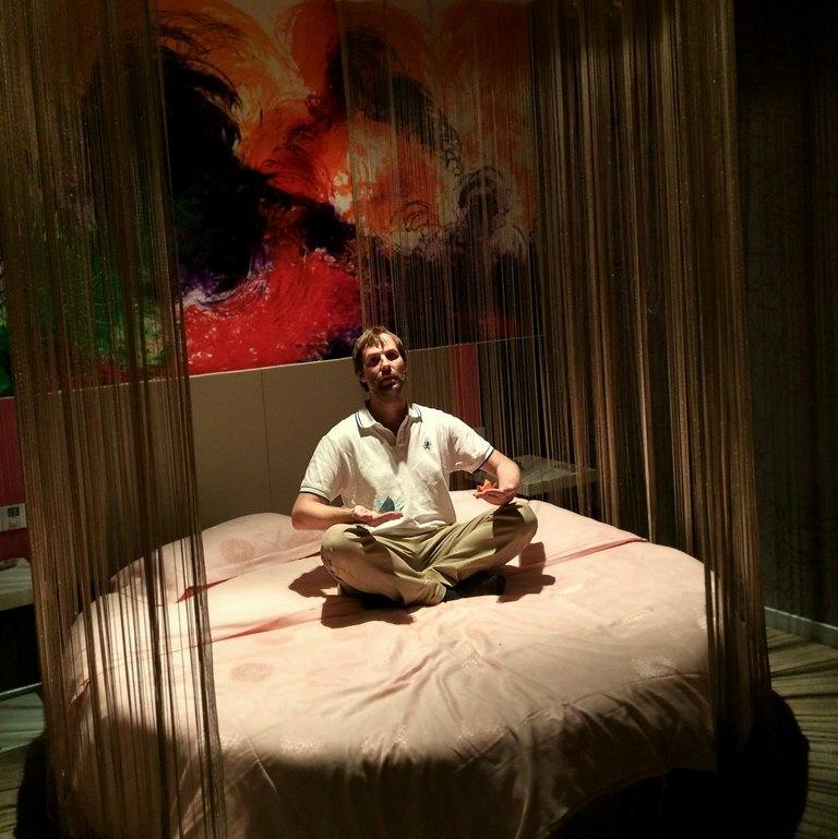 Zimmer in einem Hotel in einer abgelegenen chinesischen Kleinstadt.