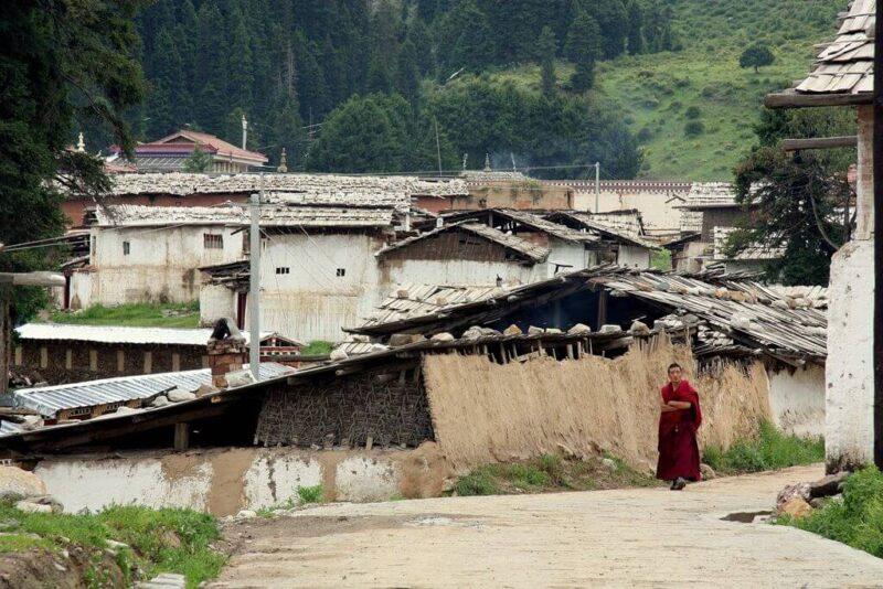 Das bessere Tibet: Rundgang durch das Klosterdorf von Langmusi. Fotos: O. Zwahlen