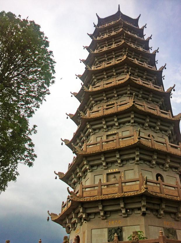 Der Turm in der Tempelanlage: Nur für besondere Gäste.