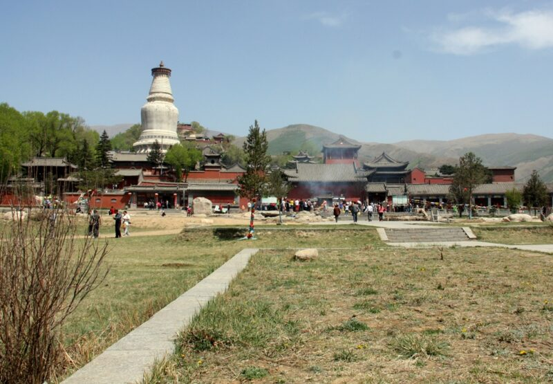 Die Weisse Pagade ist das Wahrzeichen von Wutaishan.