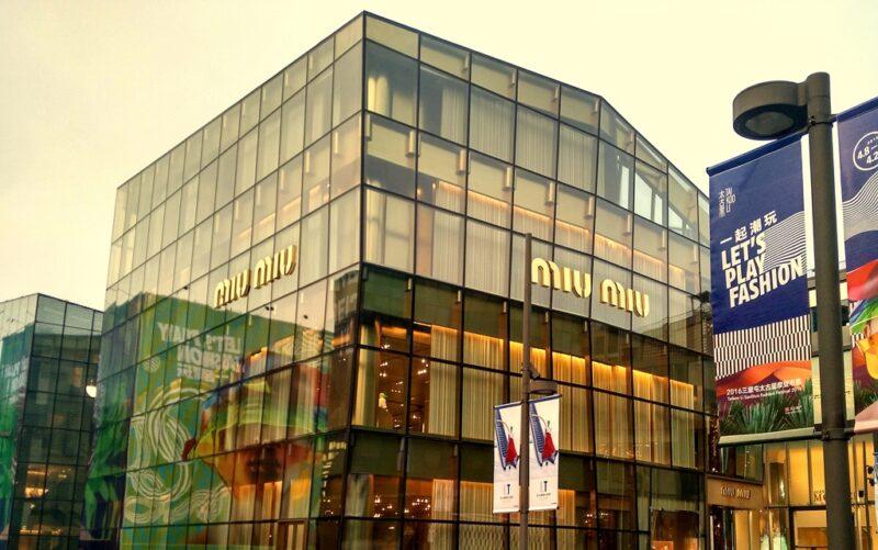 Sanlitun besticht durch moderne Architektur.