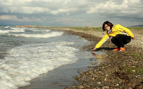 Nicht besonders warm: Der Qinghai-See auf der Tibetischen Hochebene. Fotos: OZ