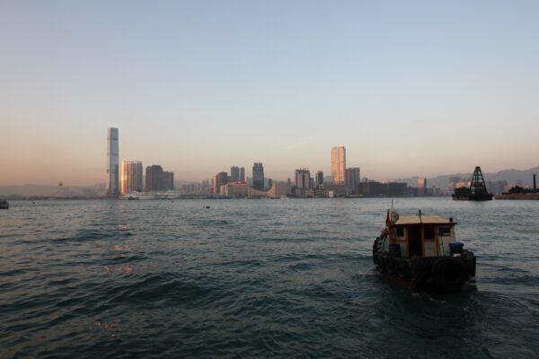 Blick auf die Skyline von Hongkong.