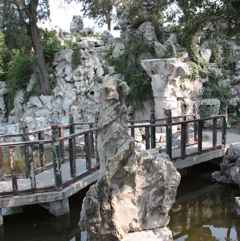 Gartenanlage im Haus der Familie Kong.