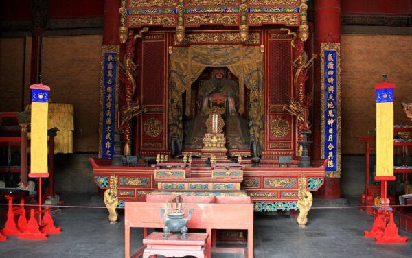 Eine der Hallen im Konfuziustempel von Qufu.